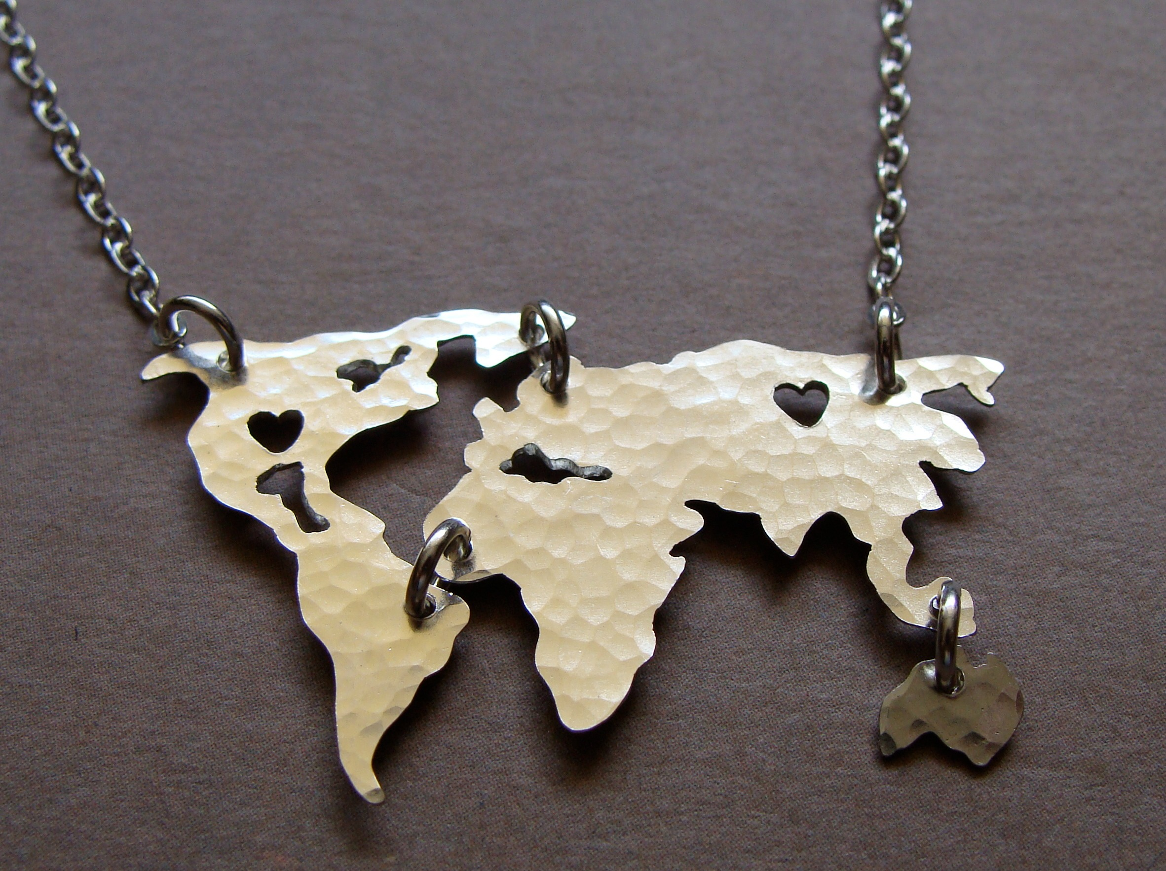 World map necklace oh so antsy world map 1 gumiabroncs Images