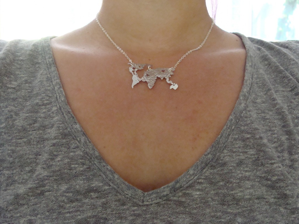 World Map Necklace Oh So Antsy